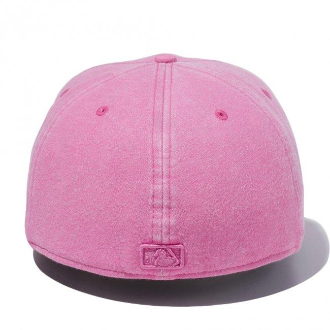 ニューエラ 5950キャップ ピンクロゴ ニューヨークヤンキース スウェット イタリアンウォッシュ ピンク ワイルドピンクの画像