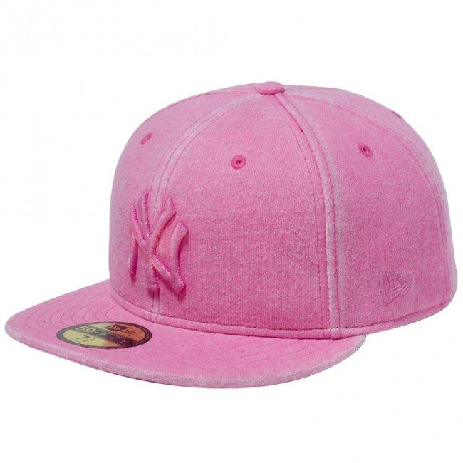 ニューエラ 5950キャップ ピンクロゴ ニューヨークヤンキース スウェット イタリアンウォッシュ ピンク ワイルドピンクの商品写真