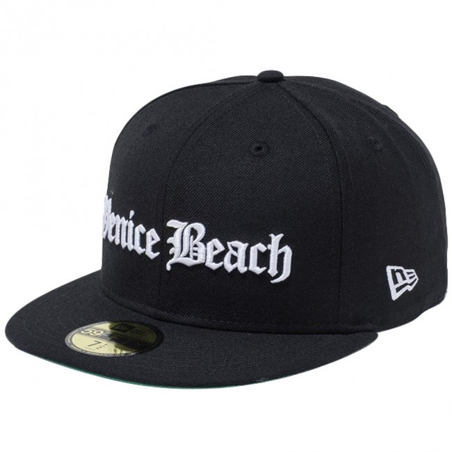 ニューエラ 5950キャップ ホワイトロゴ オールドイングリッシュ ベニスビーチ ブラック スノーホワイトの商品写真