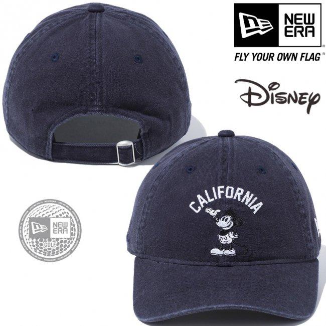 ディズニー×ニューエラ 930キャップ ゴルフ レトロ ミッキーマウス カリフォルニア ネイビー スノーホワイト ブラックの画像