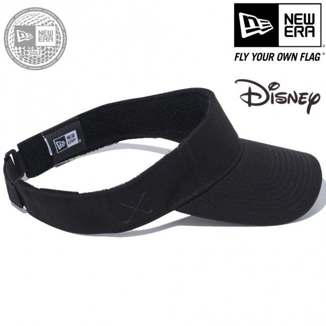 ディズニー×ニューエラ サンバイザー ゴルフ シークインド ミッキーマウス ハンド ブラック ブラックの画像