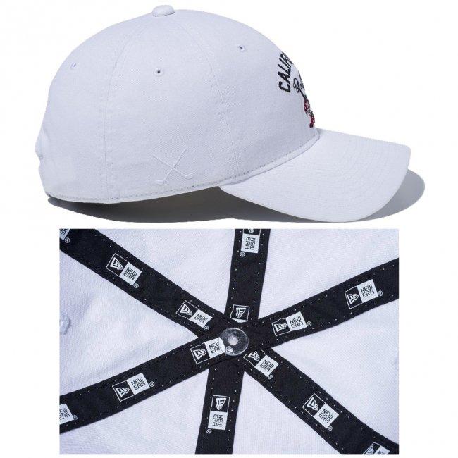 ディズニー×ニューエラ 930キャップ ゴルフ レトロ ミニーマウス カリフォルニア ホワイト スノーホワイト ブラック ラディアントレッド ブラックの画像
