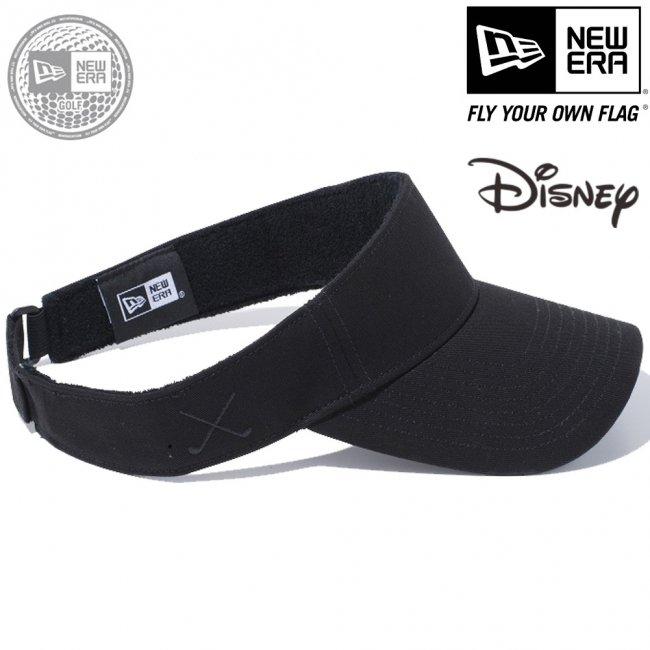 ディズニー×ニューエラ サンバイザー ゴルフ シークインド ミニーマウス リボン ブラック ブラックの画像