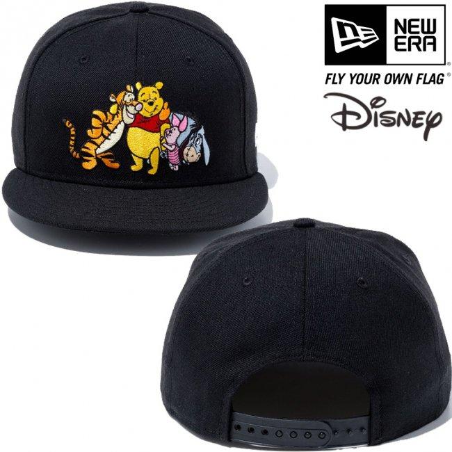 ディズニー×ニューエラ 950キャップ くまのプーさん フレンズ ブラック キャラクターカラー スノーホワイトの画像