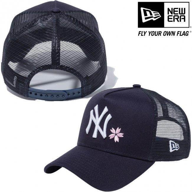 ニューエラ 940キャップ エーフレームトラッカー ニューヨークヤンキース ネイビー ネイビーメッシュ スノーホワイト ピンク ミッドナイトネイビーの画像