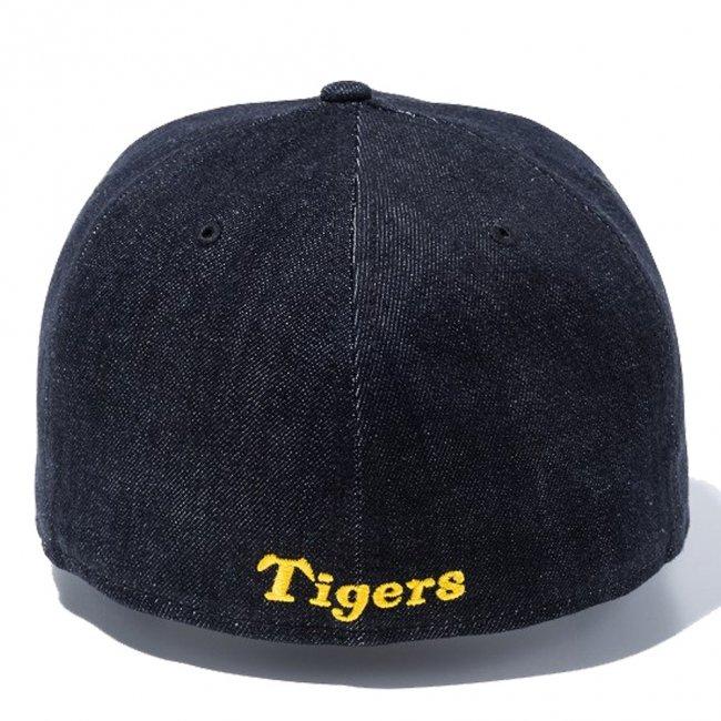 ニューエラ 5950キャップ アンダーバイザー 阪神タイガース ブラックデニム ブラック マニラの画像
