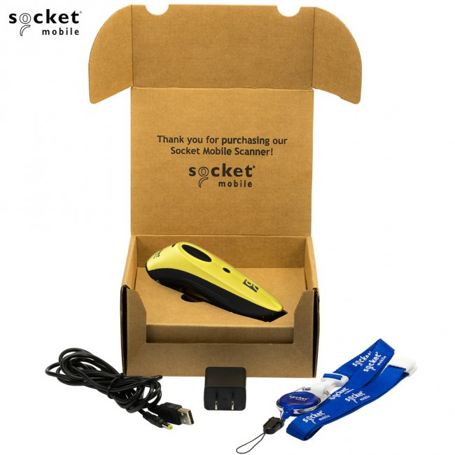 ソケットモバイル ワイヤレス CCDバーコードリーダー CHS7シリーズ CHS7Ci V3 CX2883-1480 Bluetooth接続 MFi認定 イエローの画像