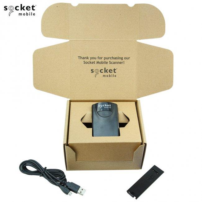 ソケットモバイル ワイヤレス CCDバーコードリーダー SocketScan800シリーズ(旧CHS8) S800 CX2881-1476 Bluetooth接続 MFi認定 ブラックの画像