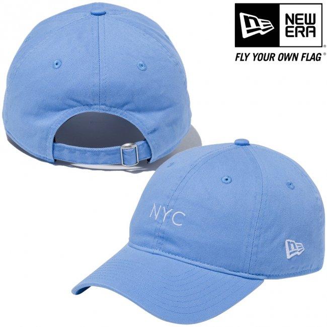 ニューエラ 920キャップ クローズストラップ パステル ニューヨークシティ NYC スカイブルー スノーホワイトの画像