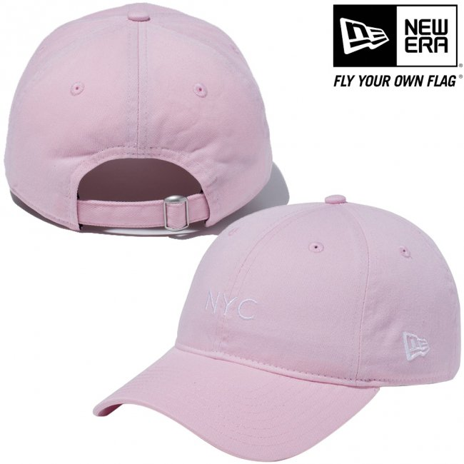 ニューエラ 920キャップ クローズストラップ パステル ニューヨークシティ NYC ピンク スノーホワイトの画像