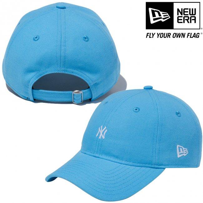 ニューエラ 930キャップ ニューヨークヤンキース ネオン ネオンブルー スノーホワイトの画像
