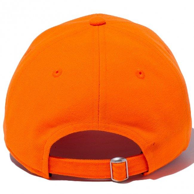 ニューエラ 930キャップ ニューヨークヤンキース ネオン ラッシュオレンジ スノーホワイトの画像