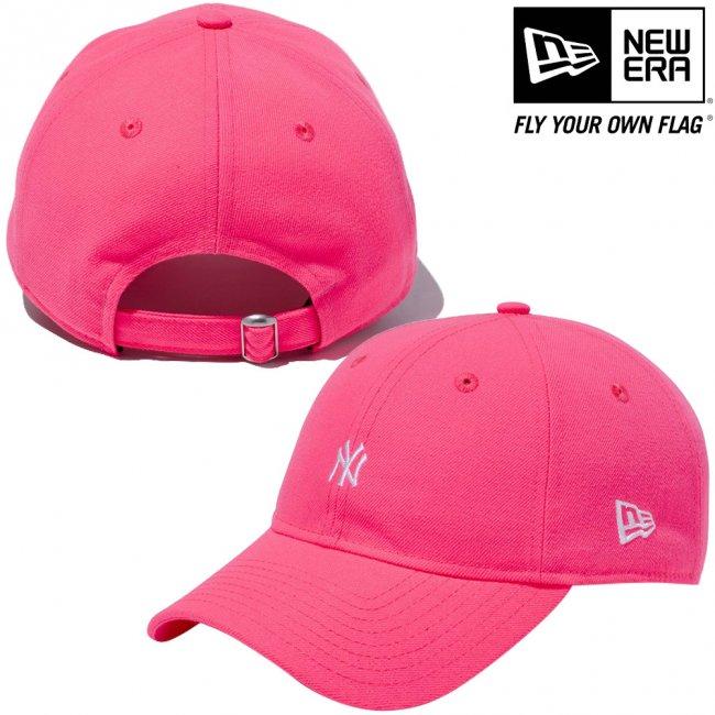 ニューエラ 930キャップ ニューヨークヤンキース ネオン ピンクグロウ スノーホワイトの画像