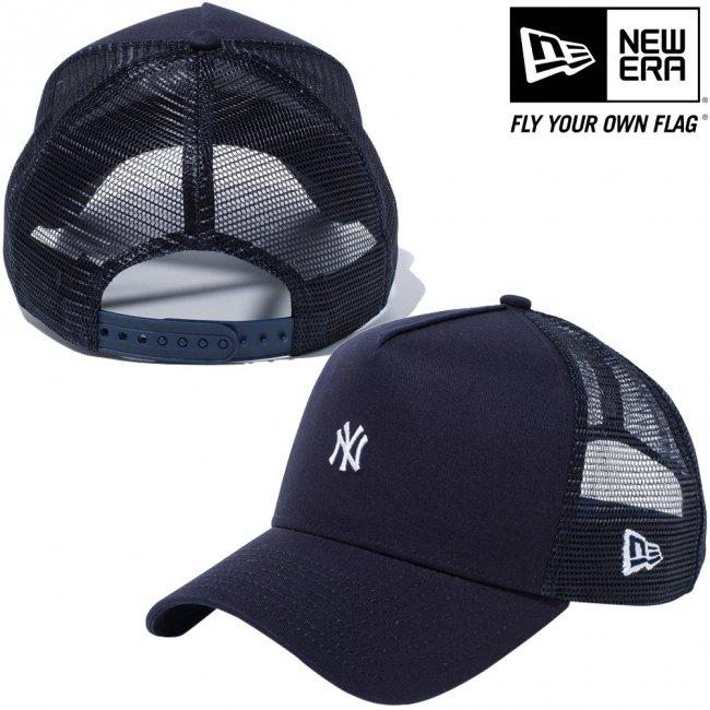 ニューエラ 940キャップ エーフレームトラッカー ニューヨークヤンキース スモールロゴ ネイビー ネイビーメッシュ ネイビー スノーホワイト スノーホワイト ミッドナイトネイビーの画像