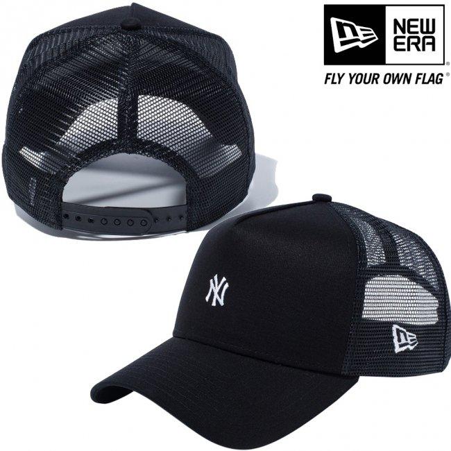 ニューエラ 940キャップ エーフレームトラッカー ニューヨークヤンキース スモールロゴ ブラック ブラックメッシュ ブラック スノーホワイト スノーホワイト ブラックの画像