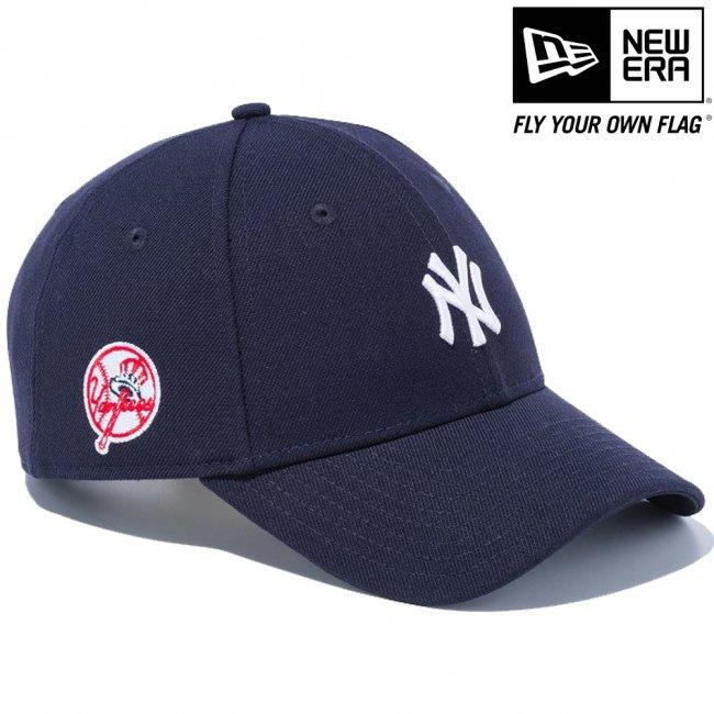 ニューエラ 940キャップ MLBカスタム ニューヨークヤンキース レトロ サイドロゴ ネイビー スノーホワイトの画像