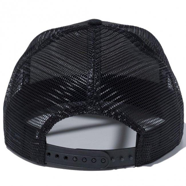 ムーンアイズ×ニューエラ 950キャップ スナップバック アイアンクロス ブラック ブラックメッシュ スノーホワイト ブラックの画像