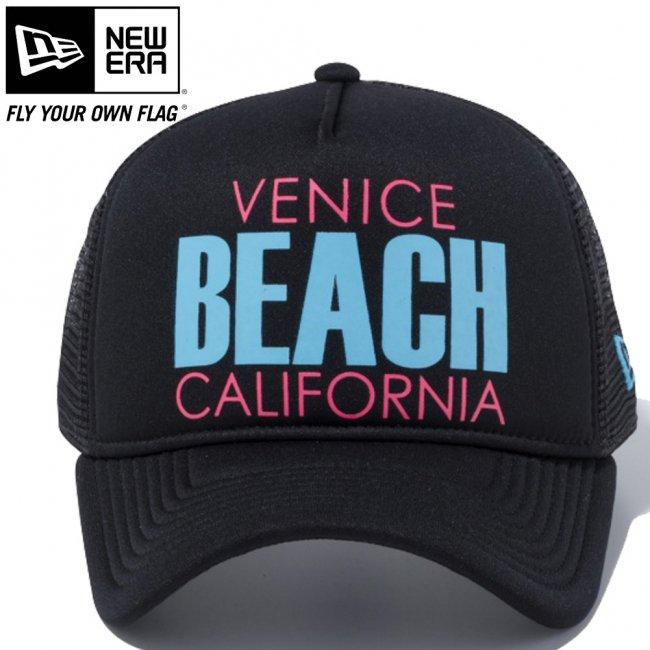 ニューエラ 940キャップ スナップバック エーフレームトラッカー ベニスビーチ ブラックトリコット ブラックメッシュ ブラックトリコット ブループリント ピンクプリント GS バイスブルー ブラックの画像