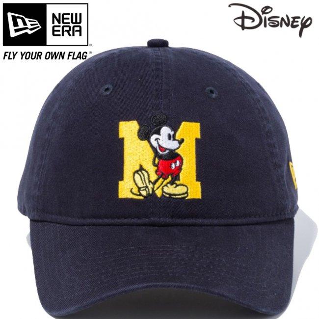 ディズニー×ニューエラ 9THIRTY キャップ クローズストラップ ミッキーマウス イニシャル ネイビー キャラクターカラー マニラの画像