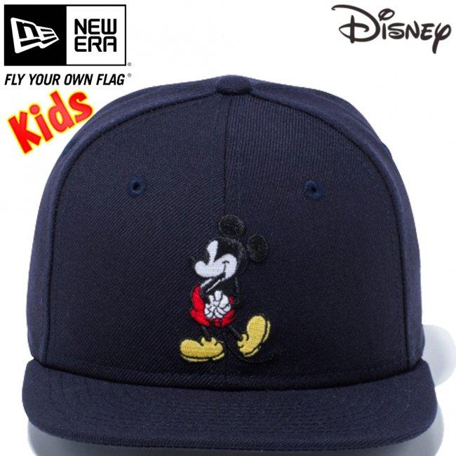 ディズニー×ニューエラ 950チャイルド スナップバック キャップ ミッキーマウス ネイビー キャラクターカラー スノーホワイトの画像