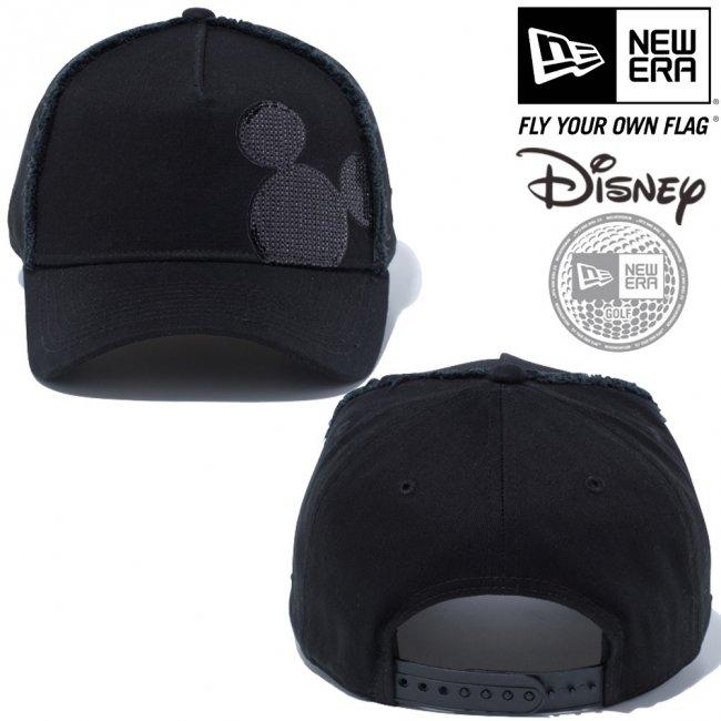 ディズニー×ニューエラ 940 スナップバック キャップ エーフレーム ゴルフ シークインド ミッキーマウス ブラック ブラックの画像