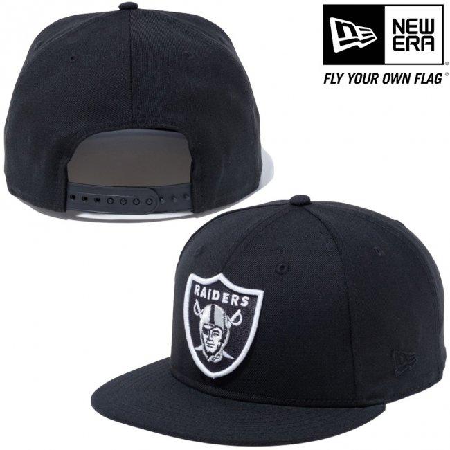 ニューエラ 950 スナップバック キャップ NFLカスタム オークランドレイダース ブラック チームカラー ブラックの画像
