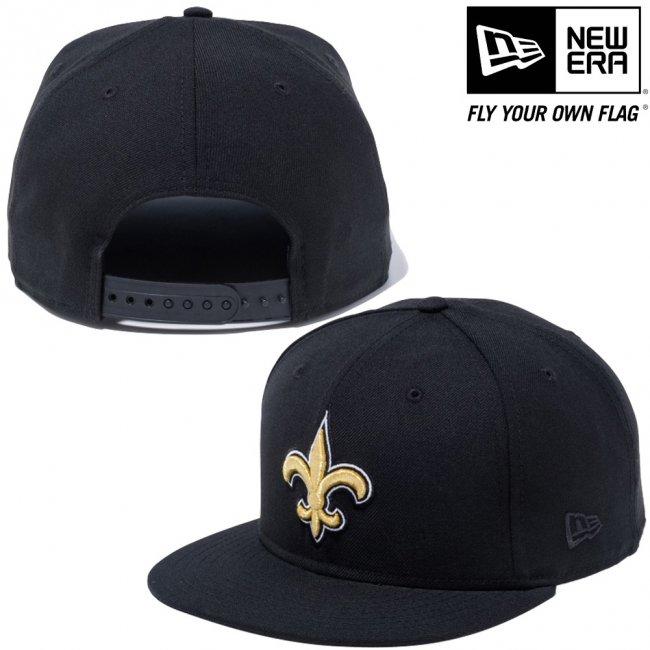ニューエラ 950 スナップバック キャップ NFLカスタム ニューオーリンズセインツ ブラック チームカラー ブラックの画像