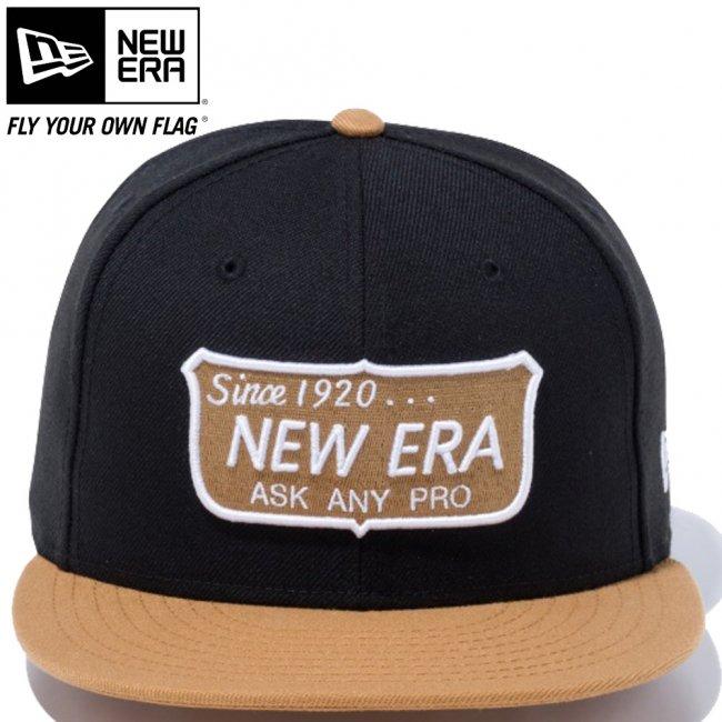 ニューエラ 950 スナップバック キャップ ニューエラ オールドロゴ ブラック ウィート スノーホワイト トースト スノーホワイトの画像