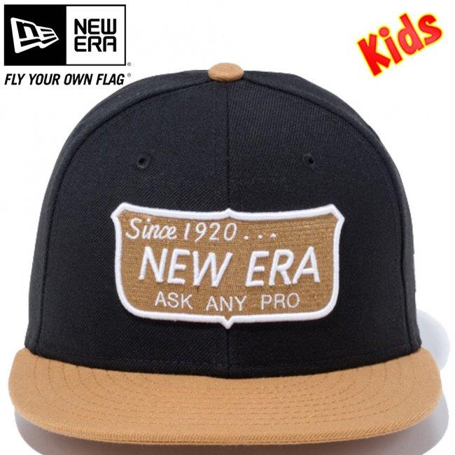 ニューエラ 950 スナップバック キッズキャップ ニューエラ オールドロゴ ブラック ウィート スノーホワイト トースト スノーホワイトの画像