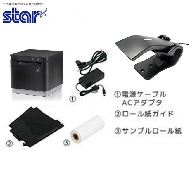 スター精密 感熱式プリンター mCollection mC-Print3 MCP31LB BK JP セット(バーコードリーダー) USB Ethernet Bluetooth DK MFi の画像