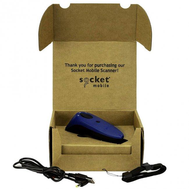 ソケットモバイル ワイヤレス 1D CCDバーコードリーダー SocketScan S700シリーズ CX3360-1682 Bluetooth接続 MFi認定 ブルーの画像