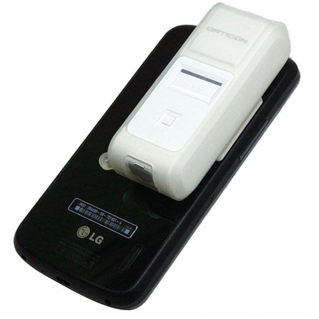 オプティコン Mobile+Oneシリーズ OPN-4000i Bluetooh ワイヤレス CCDバーコードリーダー データコレクタ セット(シリコンカバー付き) ホワイトの画像
