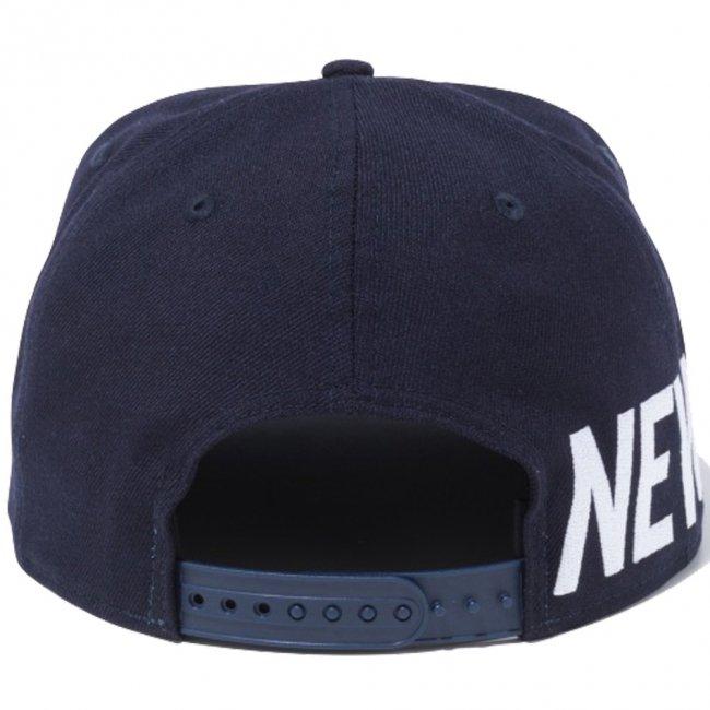 ニューエラ 950 スナップバック キャップ エッセンシャル サイドビッグロゴ ネイビー スノーホワイトの画像