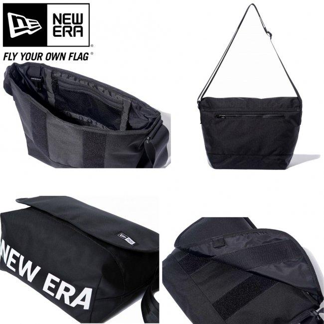 ニューエラ バッグ ショルダーバッグ ニューエラ プリント ブラック ホワイトの画像
