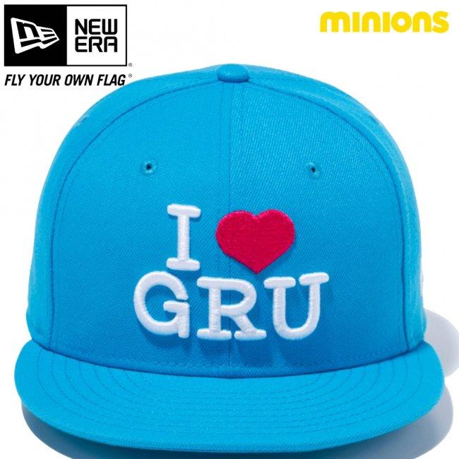 ミニオンズ×ニューエラ 950 スナップバック キャップ I LOVE GRU ブルージュエル スノーホワイト ストロベリーの画像