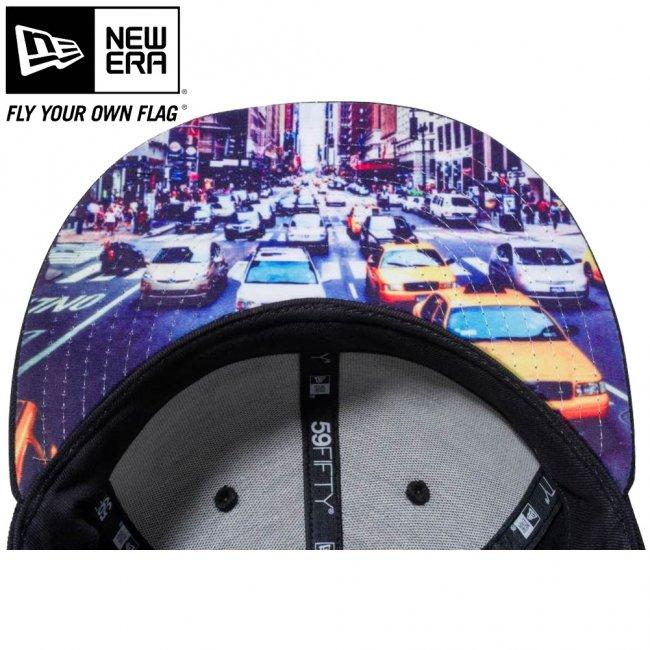 ニューエラ 5950キャップ アンダーバイザー シティランドスケープ NYC マンハッタン ブラック スノーホワイトの画像