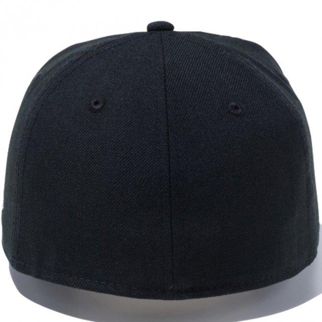 ミニオンズ×ニューエラ 5950キッズ キャップ マルチロゴ 一つ目 ブラック マルチカラー スノーホワイトの画像
