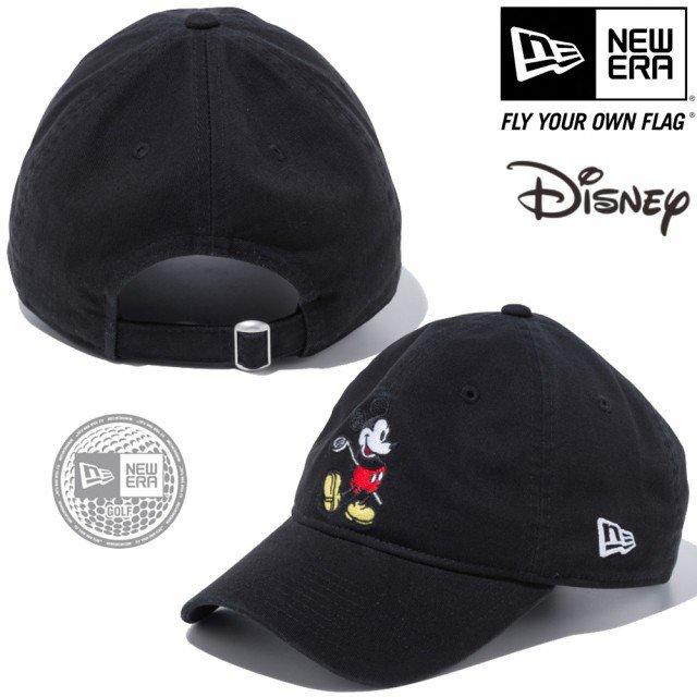 ディズニー×ニューエラ 930キャップ クローズストラップ ゴルフ ミッキーマウス ブラック キャラクターカラー スノーホワイトの画像