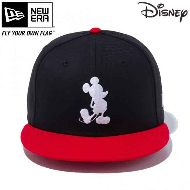 ディズニー×ニューエラ 950 スナップバック キャップ ミッキーマウス シルエット ブラック スカーレット スノーホワイトの画像