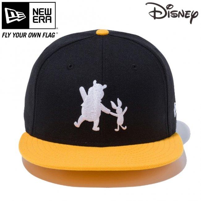 ディズニー×ニューエラ 950 スナップバック キャップ プー&ピグレット シルエット ブラック Aゴールド スノーホワイトの画像