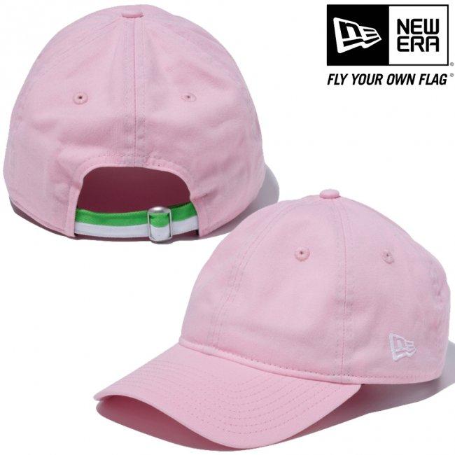 ニューエラ 930キャップ ウォッシュドコットン クローズストラップ ツートーンカラーストラップ ピンク スノーホワイトの画像