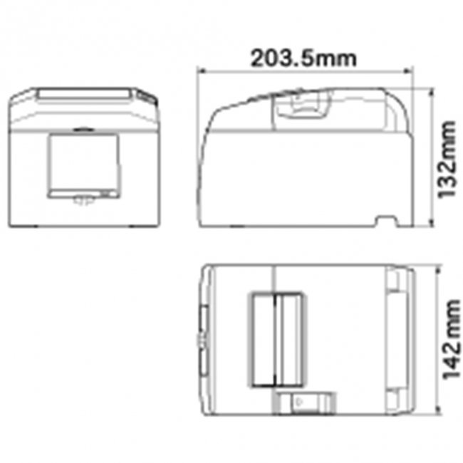 スター精密 据え置き型感熱式プリンター TSP650IIシリーズ TSP654IIBI2-24F GY JP2 セット(ACアダプター付き) Bluetooth接続 MFi認定 グレーの画像