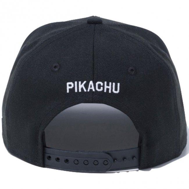 ポケモン×ニューエラ 950 スナップバック キッズ キャップ ピカチュウ サークル ブラック マルチカラー スノーホワイトの画像