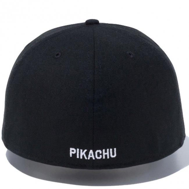 ポケモン×ニューエラ 5950キャップ マルチロゴ ピカチュウ サークル ブラック マルチカラー スノーホワイトの画像