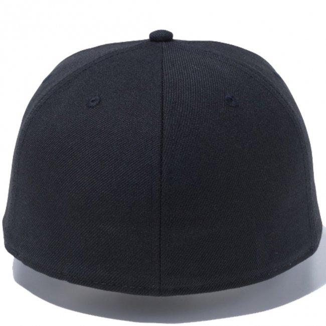 ニューエラ 5950キャップ ツートーンロゴ ウーブンラベル ボックスロゴ ブラック ブラックウーブンパッチ スノーホワイトの画像