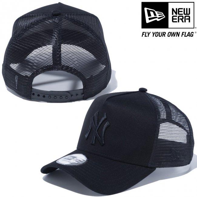 ニューエラ 940 スナップバック キャップ エーフレームトラッカー MLBカスタム ニューヨークヤンキース ブラック ブラックメッシュ ブラックの画像