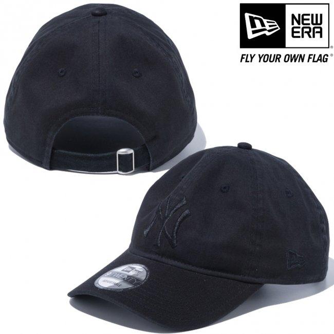 ニューエラ 920キャップ クローズストラップ MLBカスタム ニューヨークヤンキース ブラック ブラックの画像