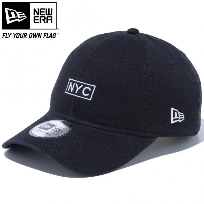 ニューエラ 930キャップ クローズストラップ NYC ボックス ブラック スノーホワイトの画像