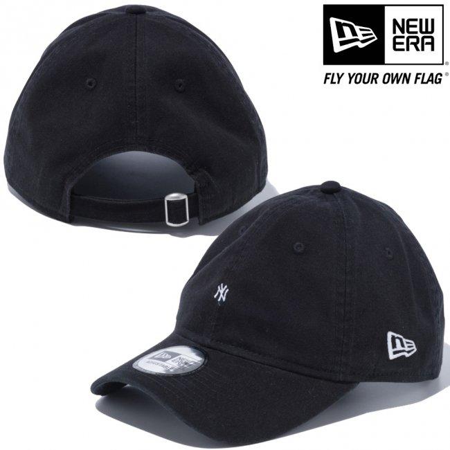 ニューエラ 930キャップ クローズストラップ マイクロロゴ ニューヨークヤンキース ブラック スノーホワイトの画像
