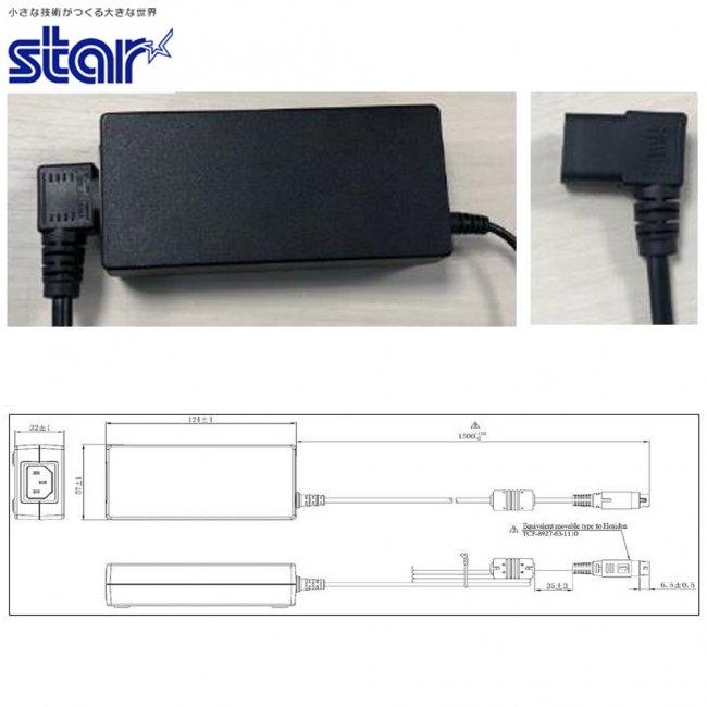 スター精密 プリンター用ACアダプター PS60A-24C アダプタL JP ブラックの画像